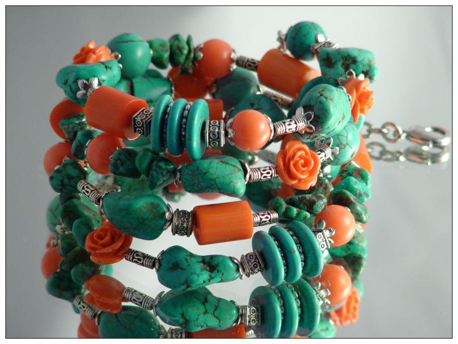"""Многорядный браслет из натуральных камней """"Лэйла"""""""